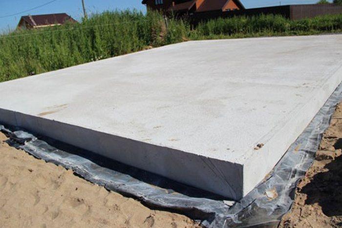 гидроизоляция фундамента плита