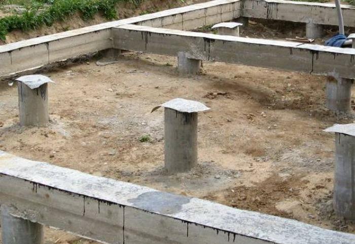 свайный фундамент бетонный