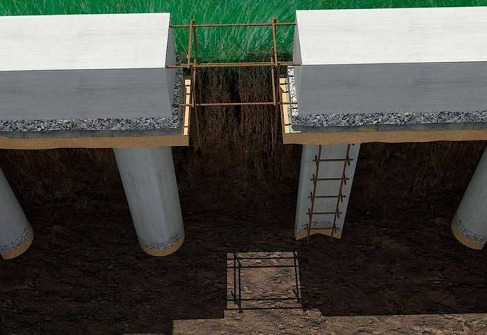 устройство фундаментов столбов бетонных
