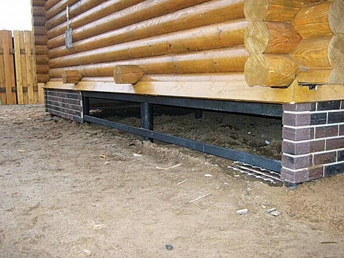 фундамент на бетонных столбах