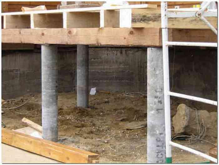Столбчатый фундамент для террасы