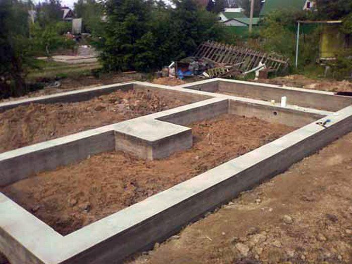 фундамент ленточный для дома из бруса