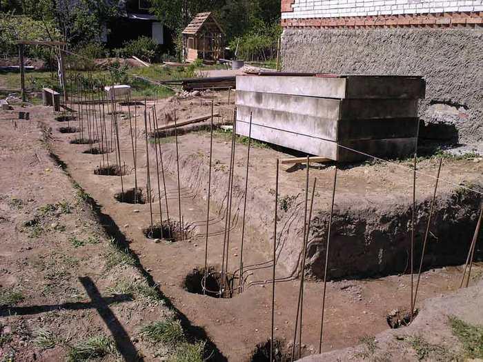 баня на столбчатом фундаменте