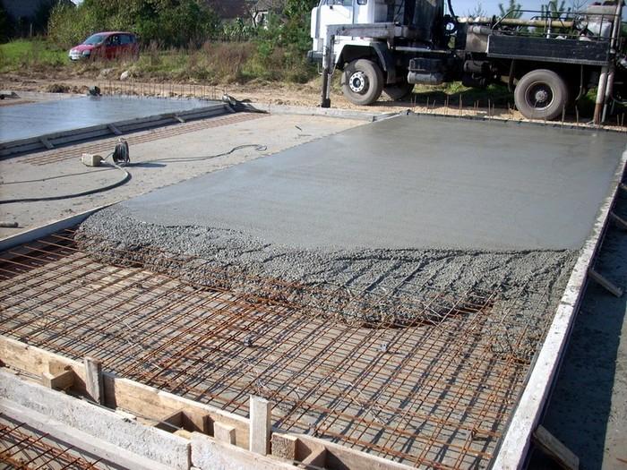 бетонная подготовка под фундамент
