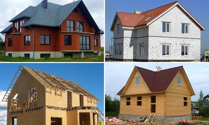 виды и описание строительных материалов для стен