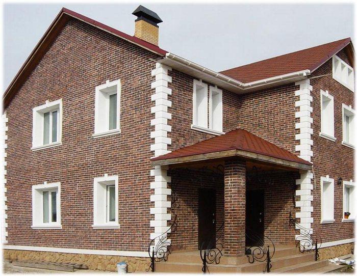 фасады домов из облицовочного кирпича фото