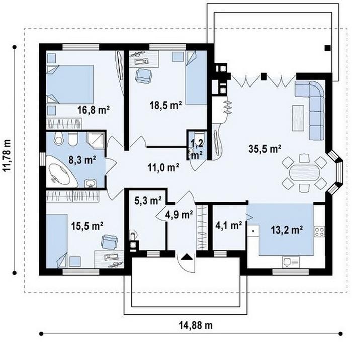 кирпичные дома маленькие