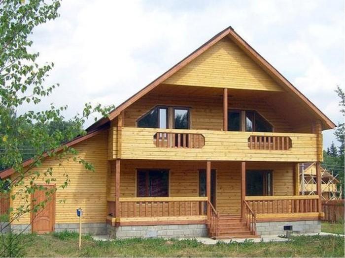 дом деревянный двухэтажный