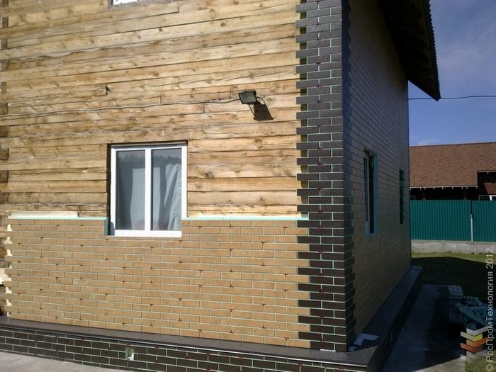 можно ли обложить деревянный дом кирпичом