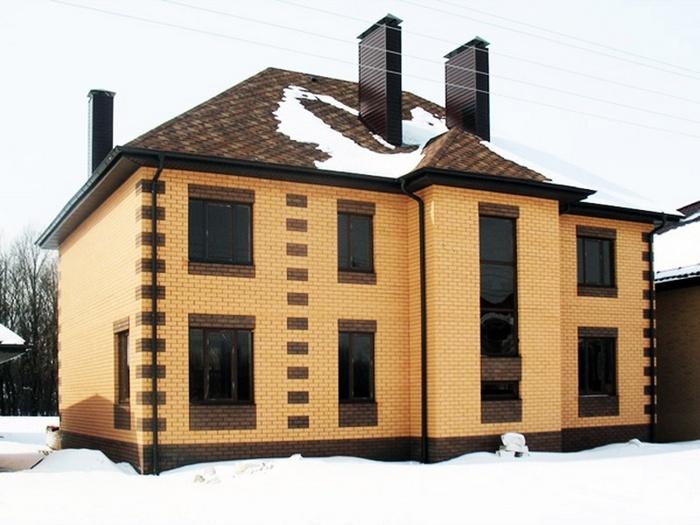дома кирпичные двухэтажные