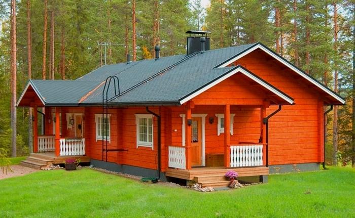 деревянный дом одноэтажный проект
