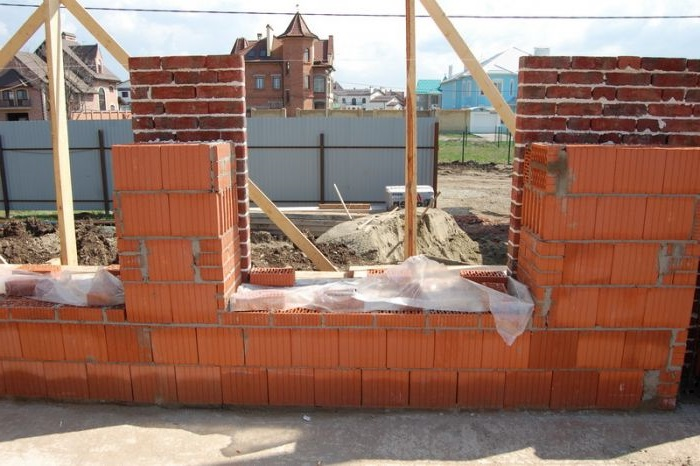 строительство дома из керамического кирпича