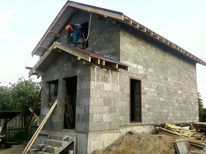 построить дом из опилкобетона