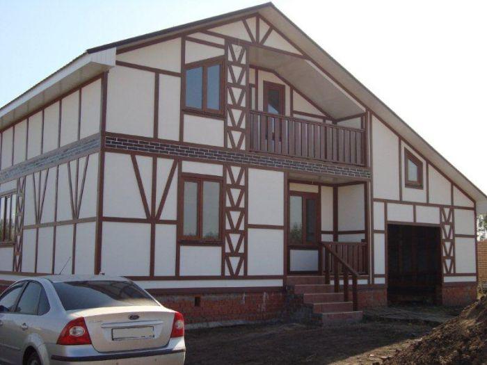 строительство домов фахверк
