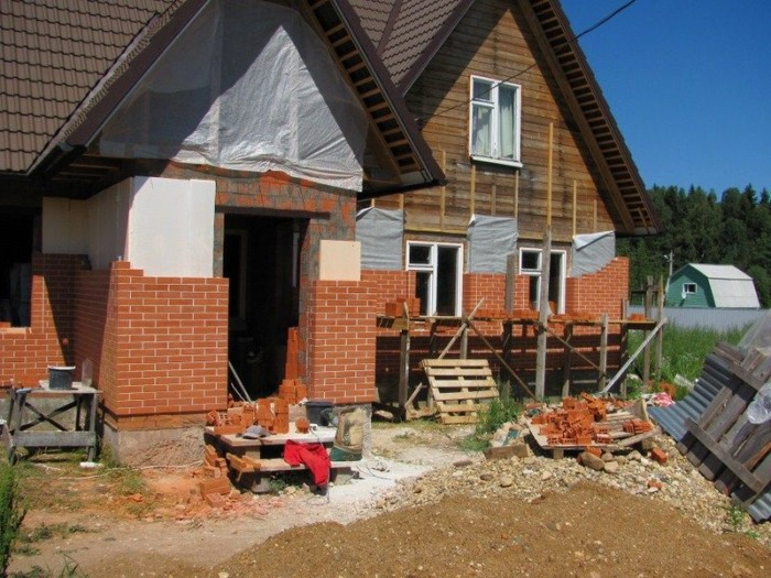 комитета как облицевать деревянный дом кирпичом Великобритания Климат похожий
