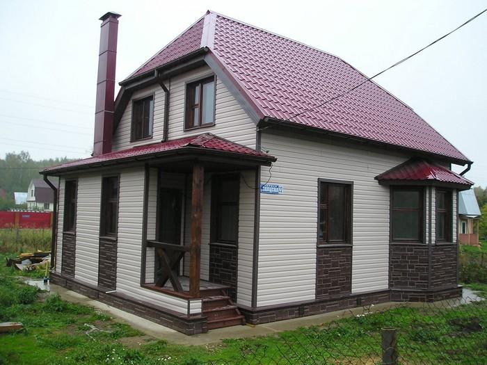Дизайн дома сайдингом снаружи