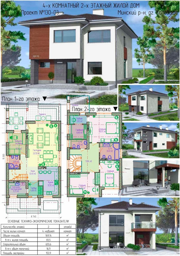 проекты двухэтажных домов фото