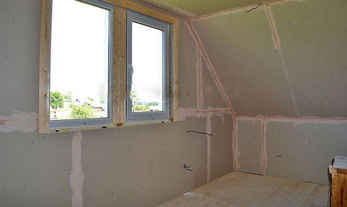 как в деревянном доме обшить стены гипсокартоном