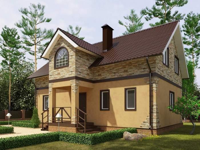 красивые фасады двухэтажных частных домов фото