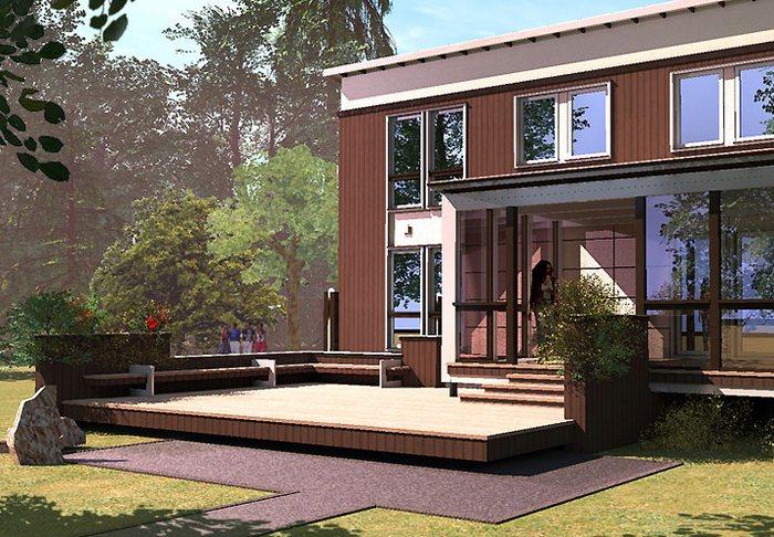 проекты небольших домов в стиле хай тек