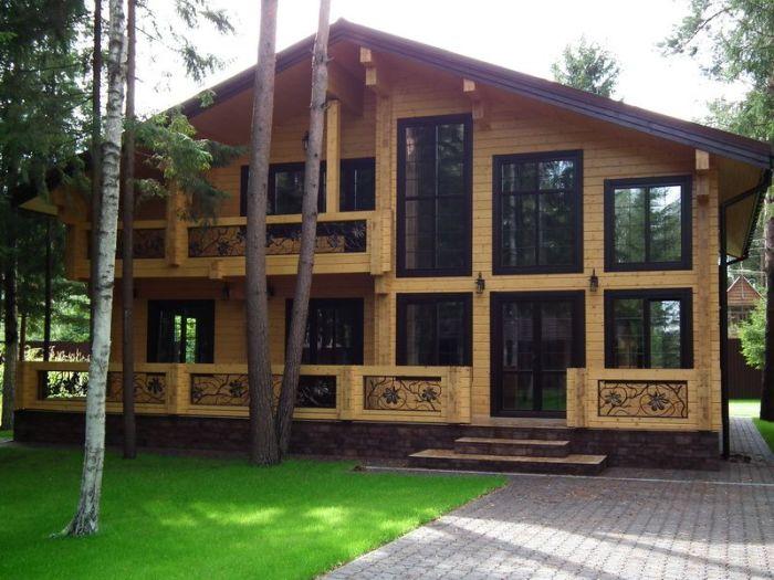 каркасный дом в стиле шале