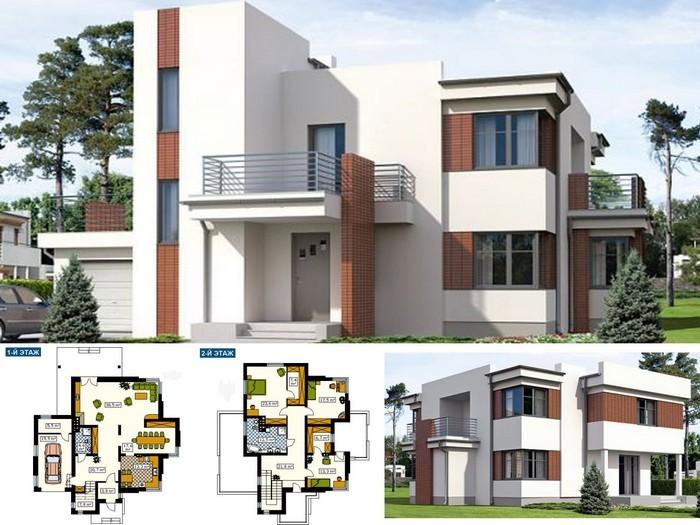 план дома в стиле хай тек