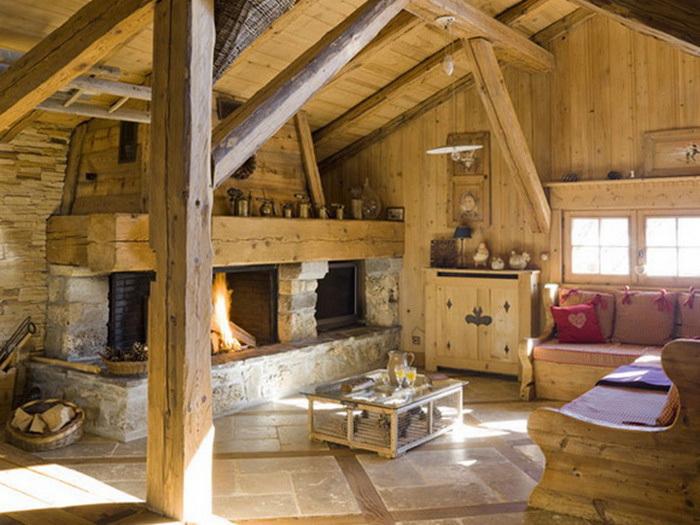 проекты комбинированных домов шале