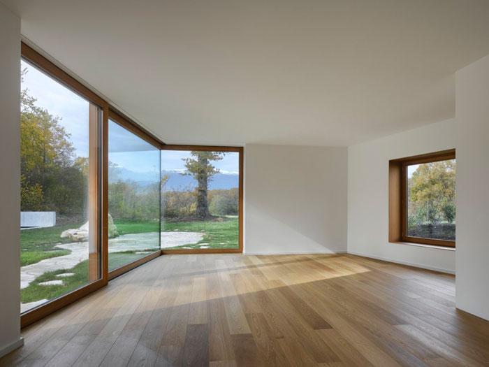 каркасный дом панорамными окнами фото