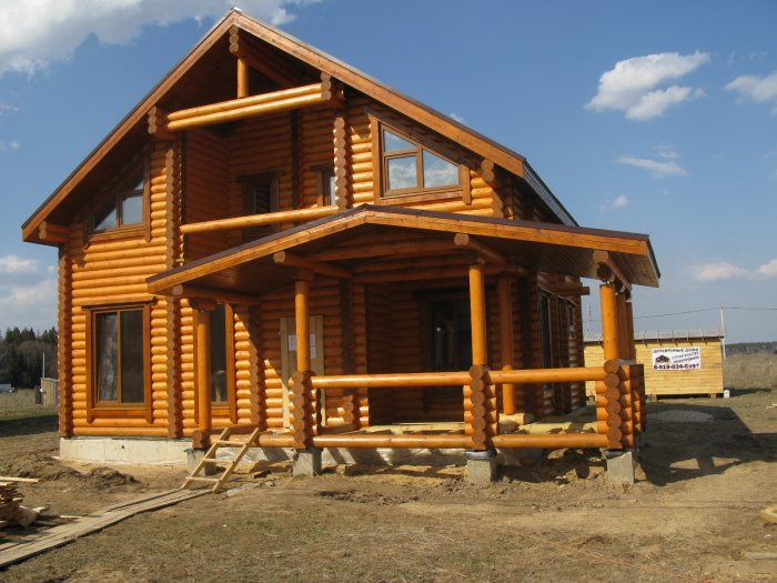 проект дома из лафета
