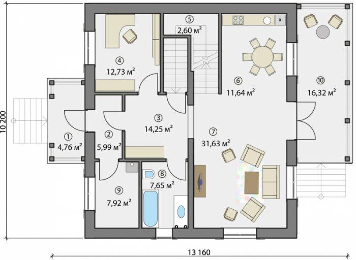 проекты каркасных домов в стиле шале