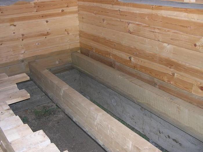 деревянный коттедж из клееного бруса