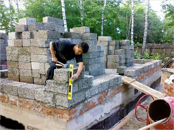 построить дом из арболита