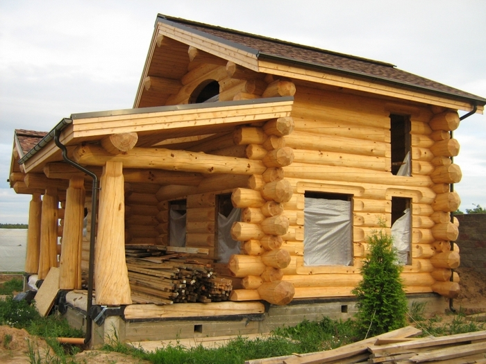 фото канадских домов из бревна