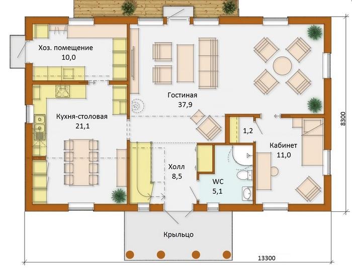 проекты коттеджей двухэтажных 150 м кв