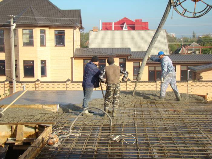 толщина монолитного перекрытия частного дома