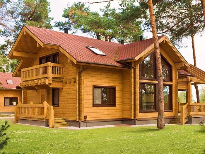 проекты деревянных домов и коттеджей