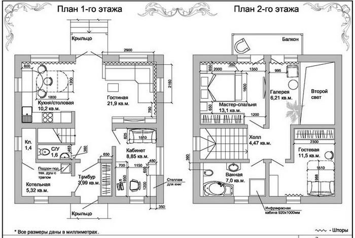 красивые проекты двухэтажных домов