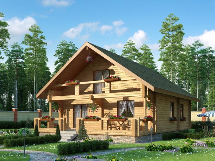 проекты домов из кирпича и бруса
