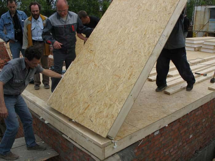 как построить дом щитовой