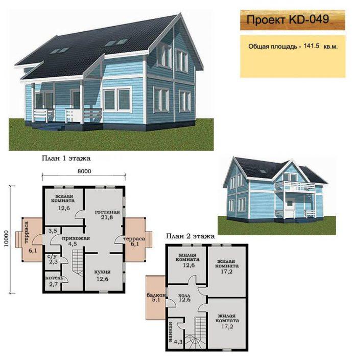 проект каркасного дома для постоянного проживания