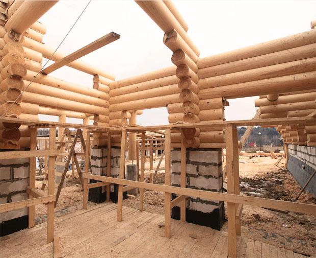 проекты комбинированных домов из пеноблоков и дерева