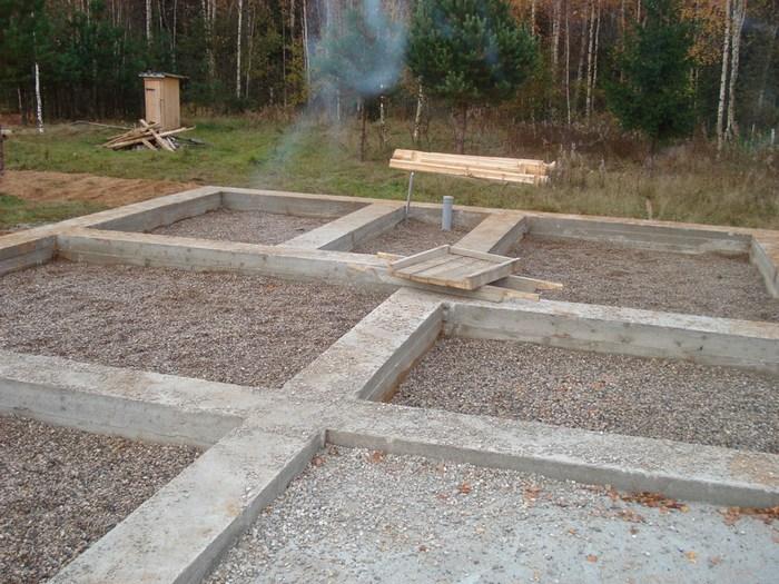 фундамент для дома из газобетона ленточный