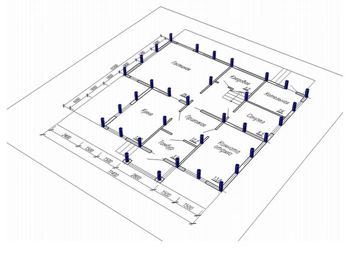план фундамента ленточного