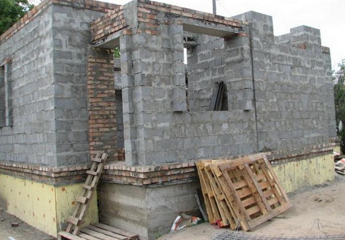 фундамент для дома из керамзитобетонных блоков