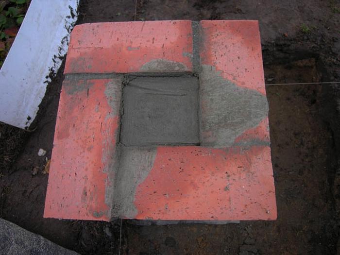 фундамент столбчатый из кирпича