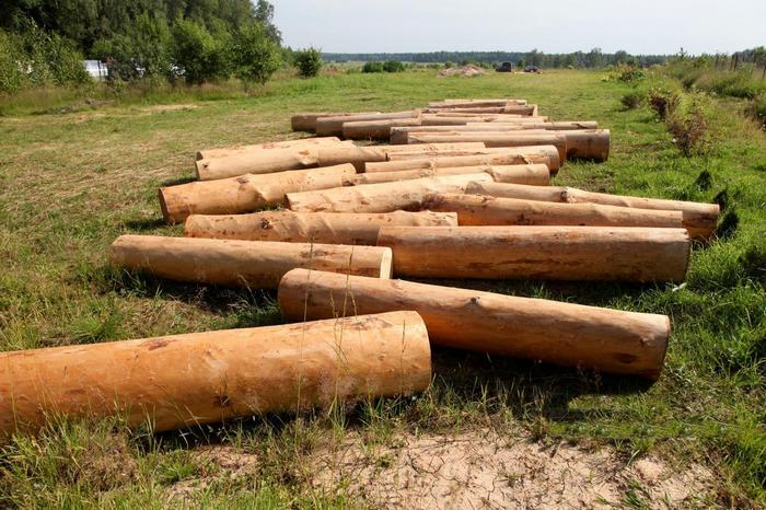 столбчатый фундамент из дерева