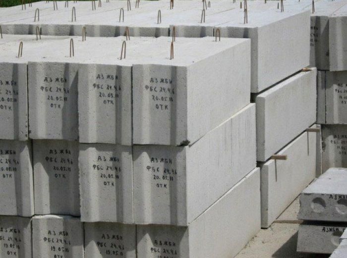 фундамент из блоков бетонных