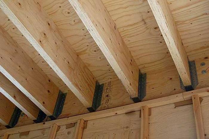 как сделать перекрытия в деревянном доме