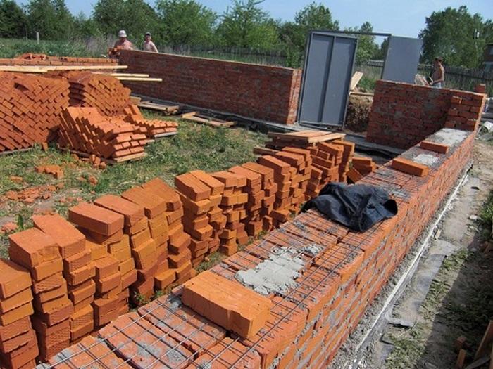 как построить дом из кирпича