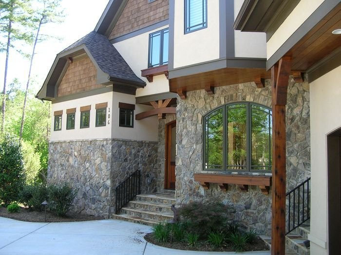 фото облицовки фасада дома
